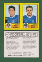 Glasgow Rangers Ted McMinn & Colin West 555